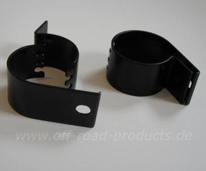 Scheinwerferhalterungen 76 mm schwarz