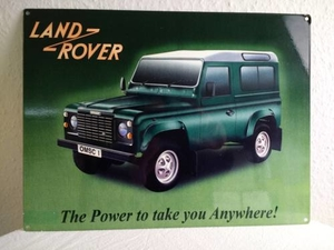 Metallschild Land Rover