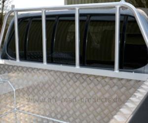 Stütz-Schutzgitter für Alu Laderaumwanne Overrail Mitsubishi L200 DC