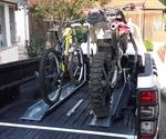 Motorrad-, Fahrradstandschiene für Pickup oder Anhänger | Lang